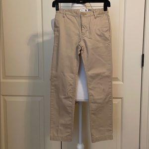 Boys skinny adjustable khakis